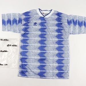 90s New Lotto Mens XL Soccer Jersey Checkered